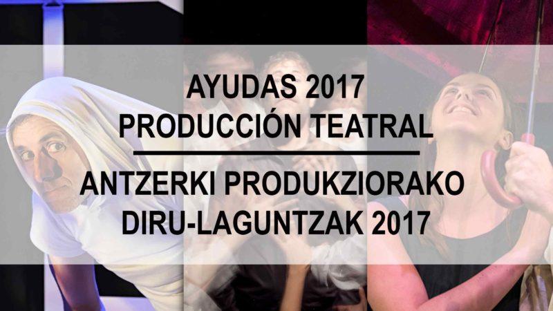 Ayudas a la producción teatral 2017