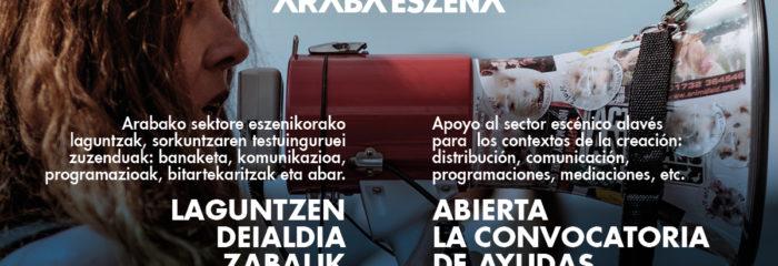 ARABA ESZENA-Abierta la convocatoria de ayudas